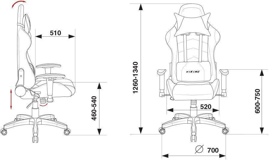 игровое кресло Бюрократ CH-778/BL+BLUE размеры